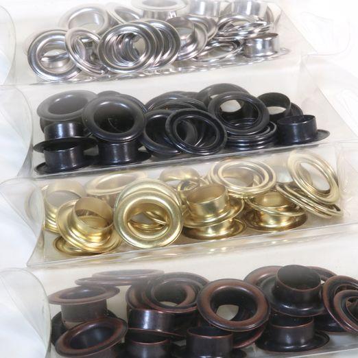 Metall Ösen 14mm 12 Stück