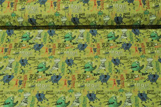 Jersey gemustert - Monsterparty  Grün Multicolor