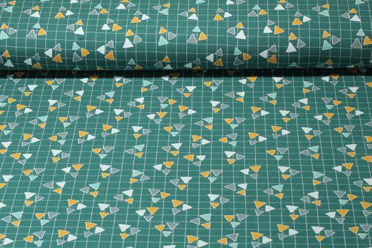 Jersey gemustert - Dreiecke Grün Multicolor