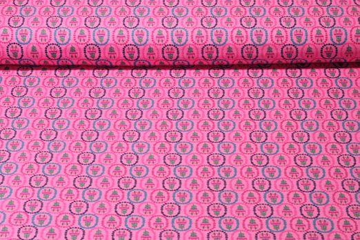 Jersey gemustert - Bunter Tulpenmix Rosa Multicolor