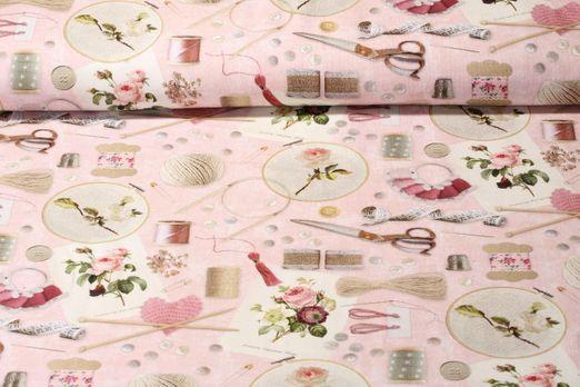 Canvas gemustert - Homemade Rosa Multicolor