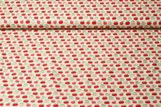 Baumwolle gemustert - Glitzeräpfel Grün Multicolor