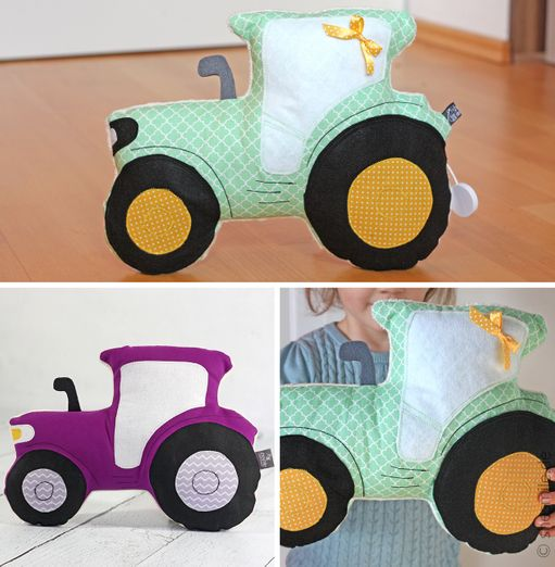 Traktor-Kuschelkissen - Tom - Schnittmuster eBook