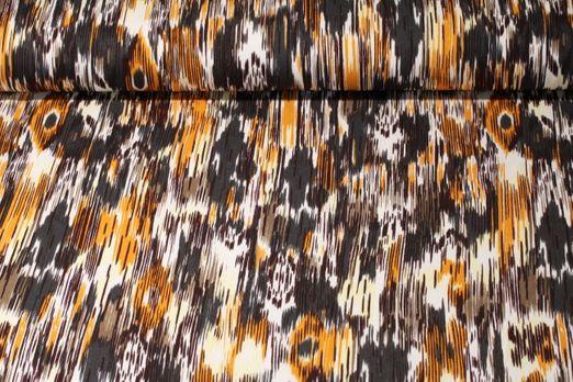 Jersey gestreift - Bohemian Muster Orange Multicolor