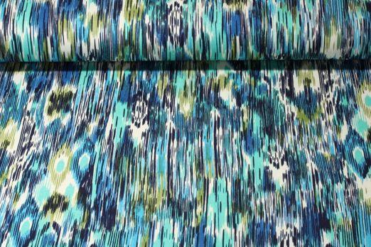 Jersey gestreift - Bohemian Muster Türkis Multicolor