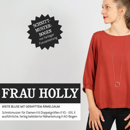 Weite Bluse - FRAU HOLLY - Papierschnittmuster