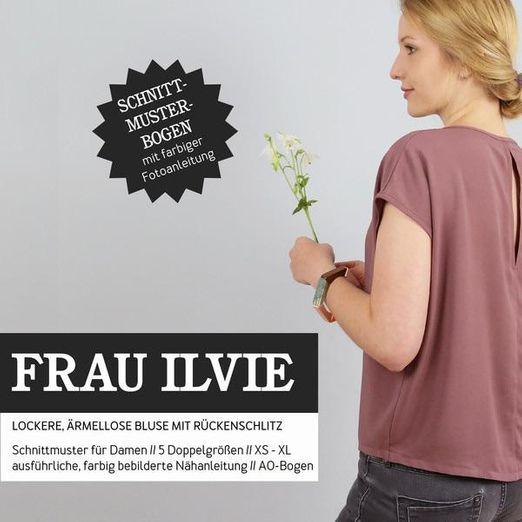 Bluse mit Rückenschlitz - FRAU ILVIE - Papierschnittmuster