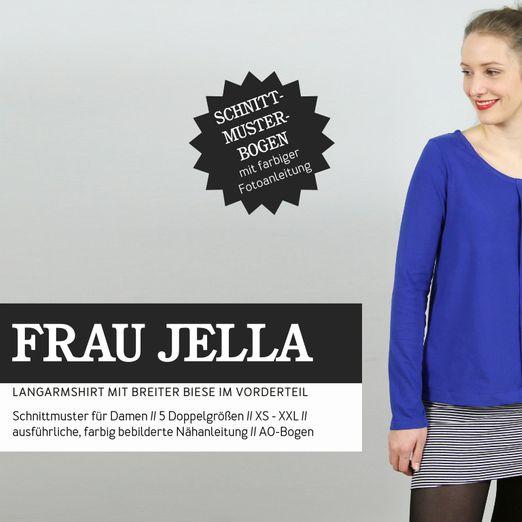 Langarmshirt mit Biese - FRAU JELLA - Papierschnittmuster