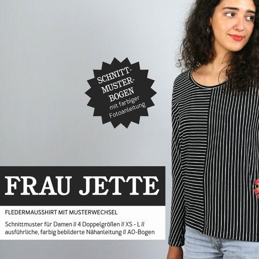 Fledermausshirt - FRAU JETTE - Papierschnittmuster