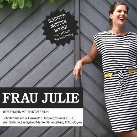 Jerseykleid und Shirt  - FRAU JULIE - Papierschnittmuster