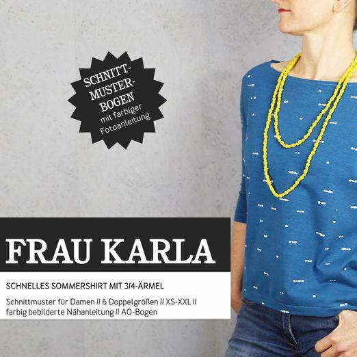 Sommershirt - FRAU KARLA - Papierschnittmuster