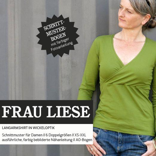 Shirt in Wickeloptik - FRAU LIESE - Papierschnittmuster