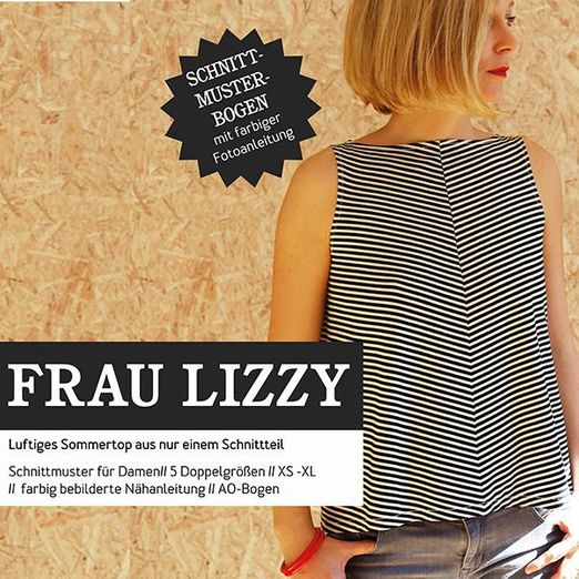 Damentop - FRAU LIZZY - Papierschnittmuster