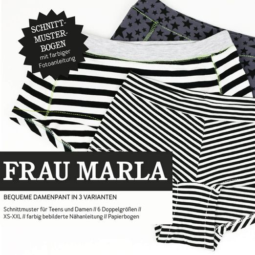Damenpants - FRAU MARLA - Papierschnittmuster