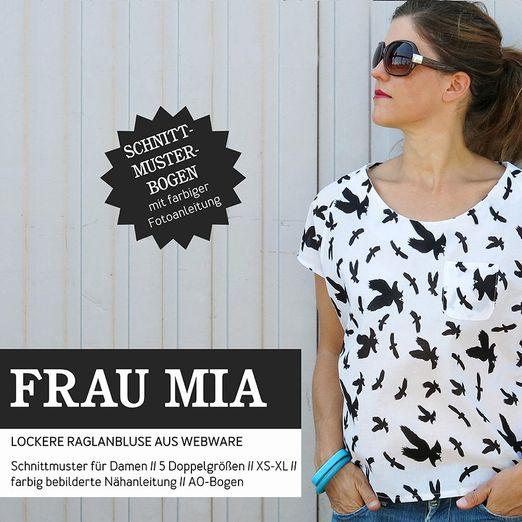 Bluse Raglanoptik - FRAU MIA - Papierschnittmuster
