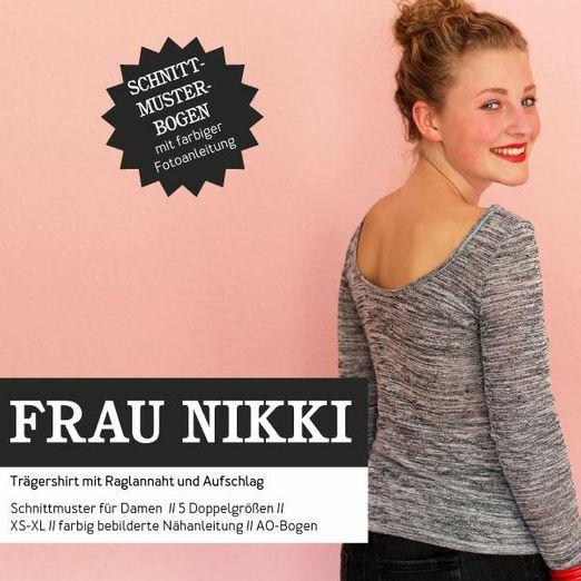 Basicshirt - FRAU NIKKI - Papierschnittmuster