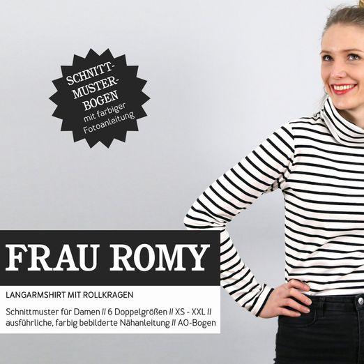 Rollkragenshirt - FRAU ROMY - Papierschnittmuster