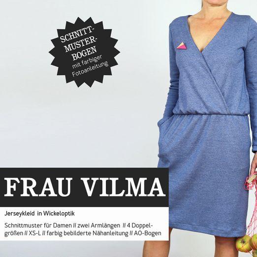 Jerseykleid Wickeloptik - FRAU VILMA - Papierschnittmuster