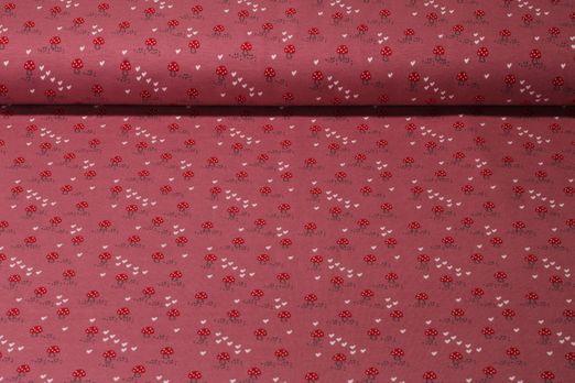 Jersey gemustert - Kleiner Glückspilz Rosa Multicolor