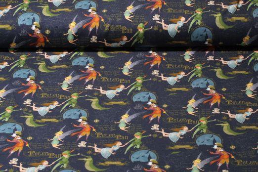 Jersey gemustert - Peter Pan Neverland Navy Multicolor
