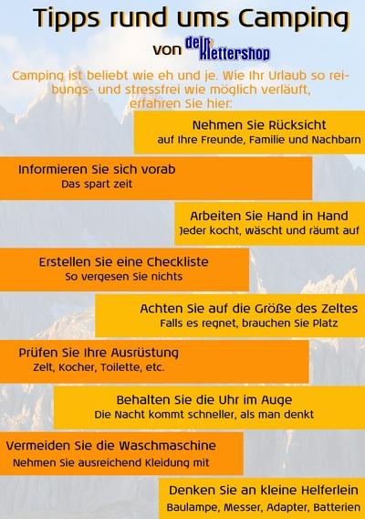 Tipps Camping Dein-Klettershop.de