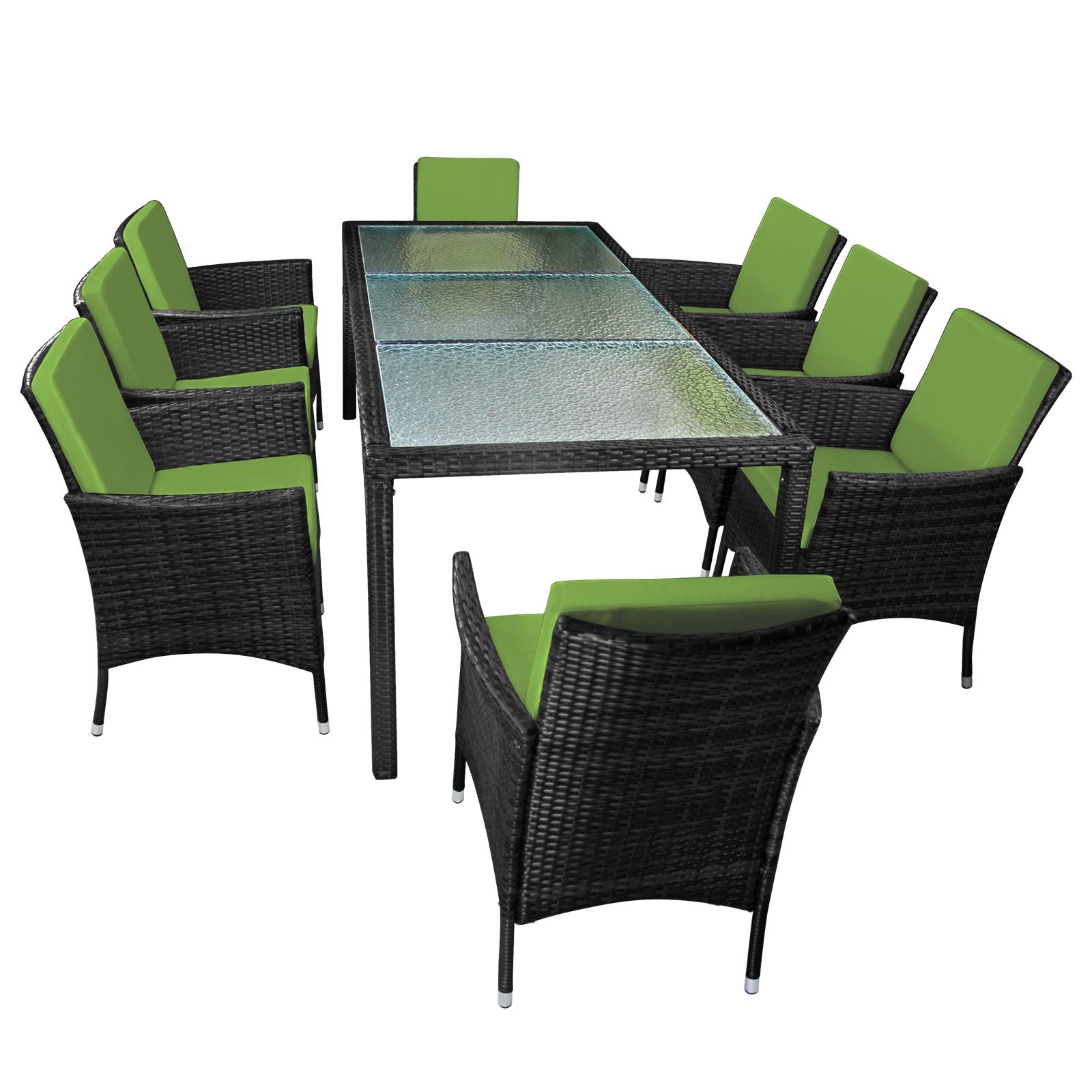 25 teilige polyrattan essgruppe f r 8 personen von bb sport. Black Bedroom Furniture Sets. Home Design Ideas
