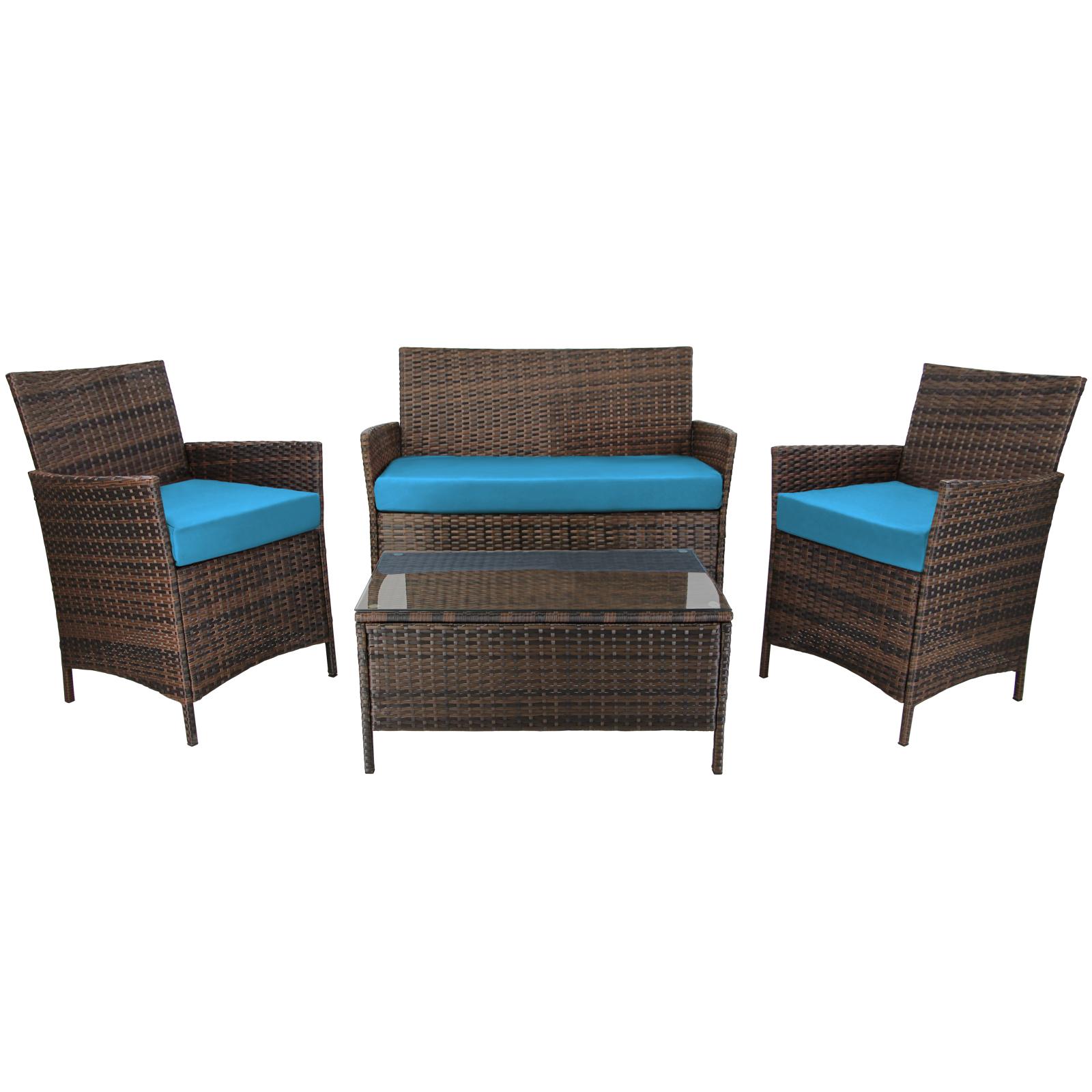 7 teilige rattan sitzgruppe lounge kuba von bb sport. Black Bedroom Furniture Sets. Home Design Ideas