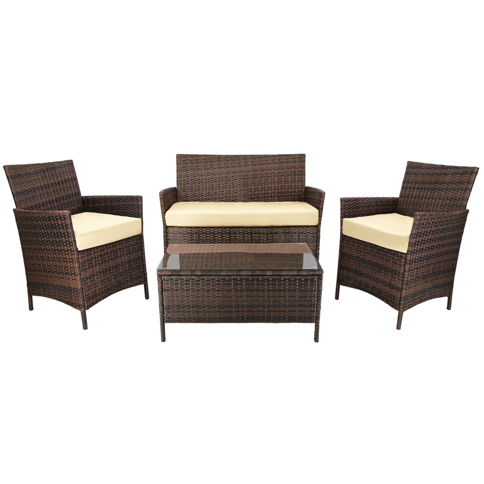 poly rattan sitzgruppe 7 teilig lounge kuba sitzgarnitur. Black Bedroom Furniture Sets. Home Design Ideas