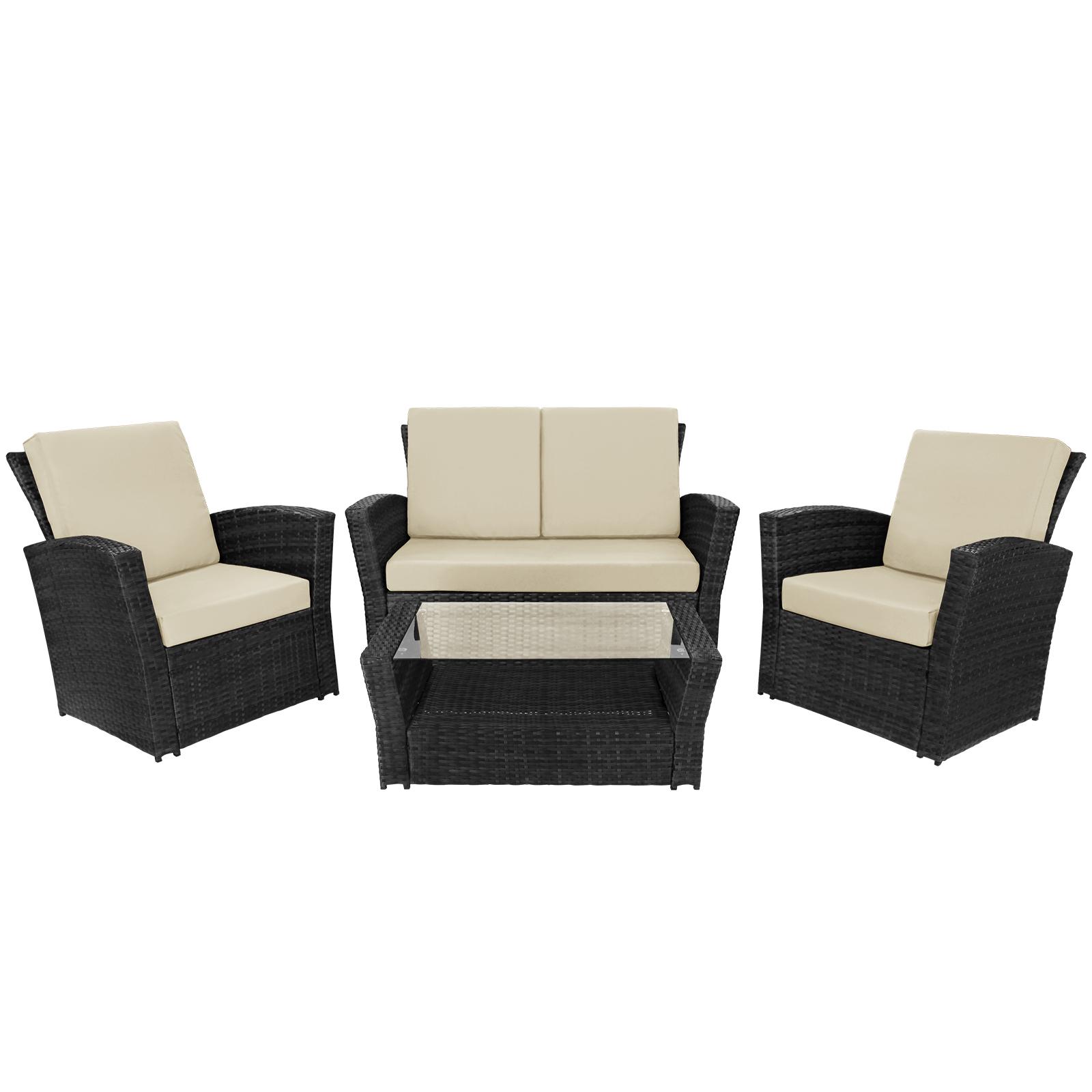 10 teilige polyrattan sitzgruppe lounge rio deluxe von bb. Black Bedroom Furniture Sets. Home Design Ideas