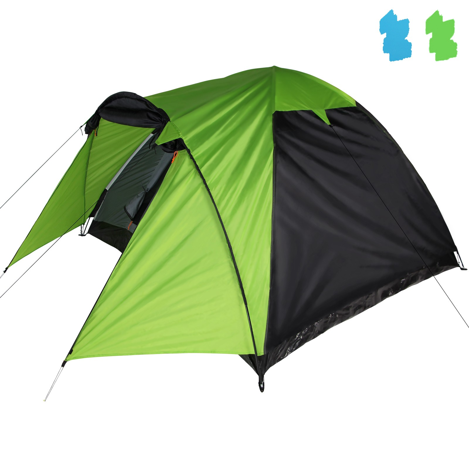 Zelt Set 4 Personen : Zelt kuppelzelt trekkingzelt festivalzelt campingzelt erie