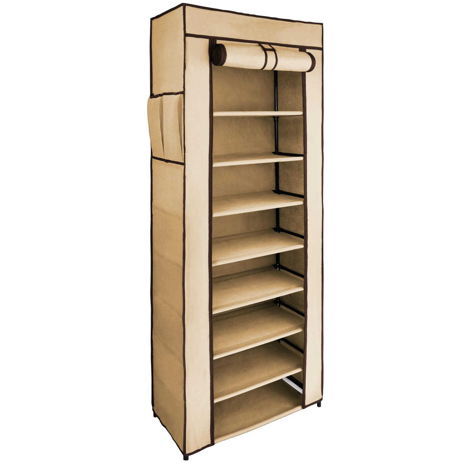 schuh regal 8 etagen 58x28x160 cm schuhst nder schuhschrank schuhablage ebay. Black Bedroom Furniture Sets. Home Design Ideas