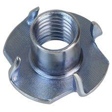 ALPIDEX 100 Einschlagmuttern M10 galvanisch verzinkt 13 mm Einschlaggewinde für Klettergriffe