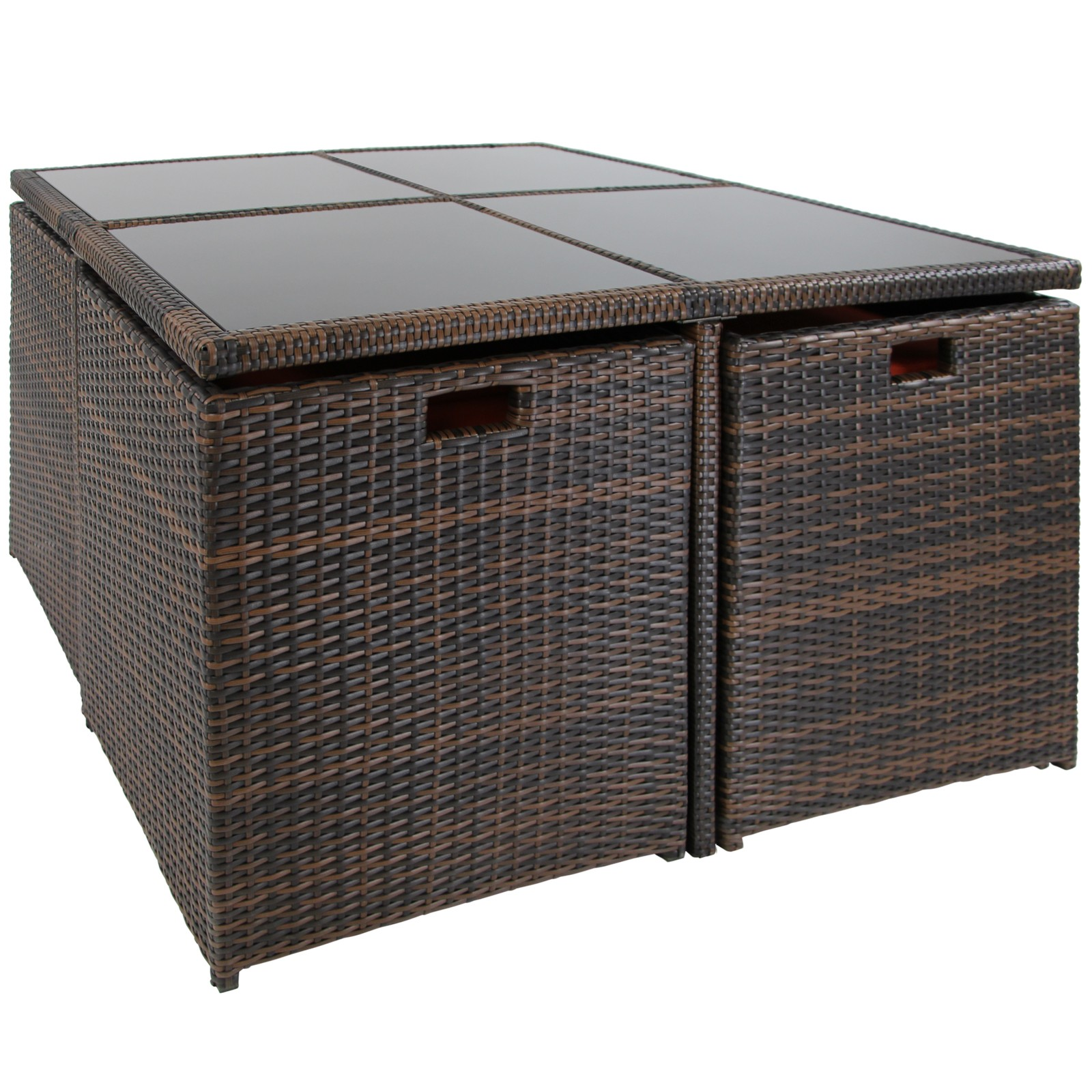 17 teilige polyrattan rattan sitzgruppe essgruppe. Black Bedroom Furniture Sets. Home Design Ideas