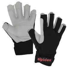 Via Ferrata Climbing Gloves unisex Real Leather by ALPIDEX