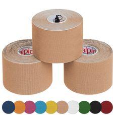 3 x Kinesiologie Tape 5 cm x 5 m in verschiedenen Farben