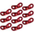 10 Stück Alu Zweilochspanner rot von BB Sport 001