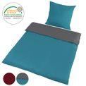 BB Sport Bettwäsche-Garnitur aus Mikrofaser 2-teilig 135 x 200 cm in verschiedenen Farbdesigns mit Reißverschluss 001