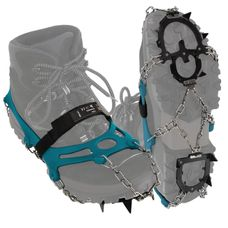ALPIDEX Shoe spikes snow chains for shoes in various sizes crampons with stainless steel spikes 12 teeth