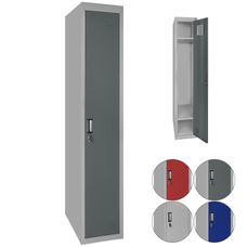 BB Sport Garderobenschrank Einzelspind 180 x 30 x 50 cm verschiedene Farben wählbar