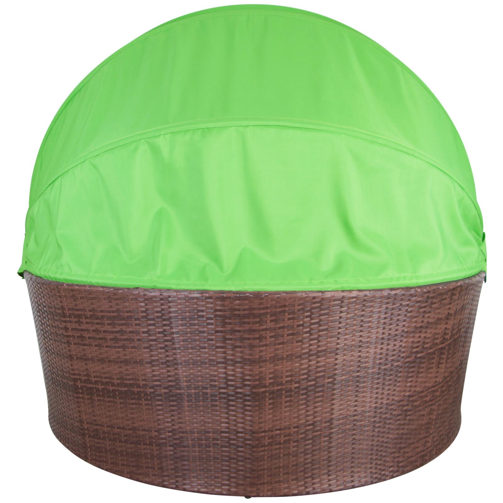 Sonneninsel mit dach selber bauen  Polyrattan Lounge-Muschel Sonneninsel MAURITIUS Sonnenliege Garten ...