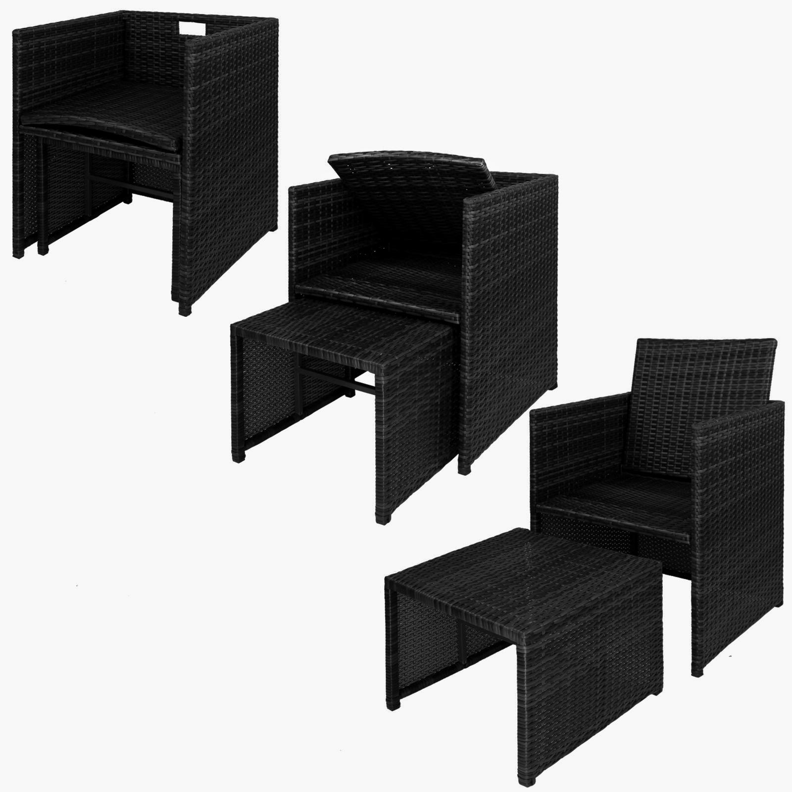 2 polyrattan sessel mit hocker inkl sitzkissen und kissenbez gen in vielen farben von bb sport. Black Bedroom Furniture Sets. Home Design Ideas