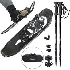ALPIDEX Snowshoe lightweight carbon snowshoes - with or without telescopic poles