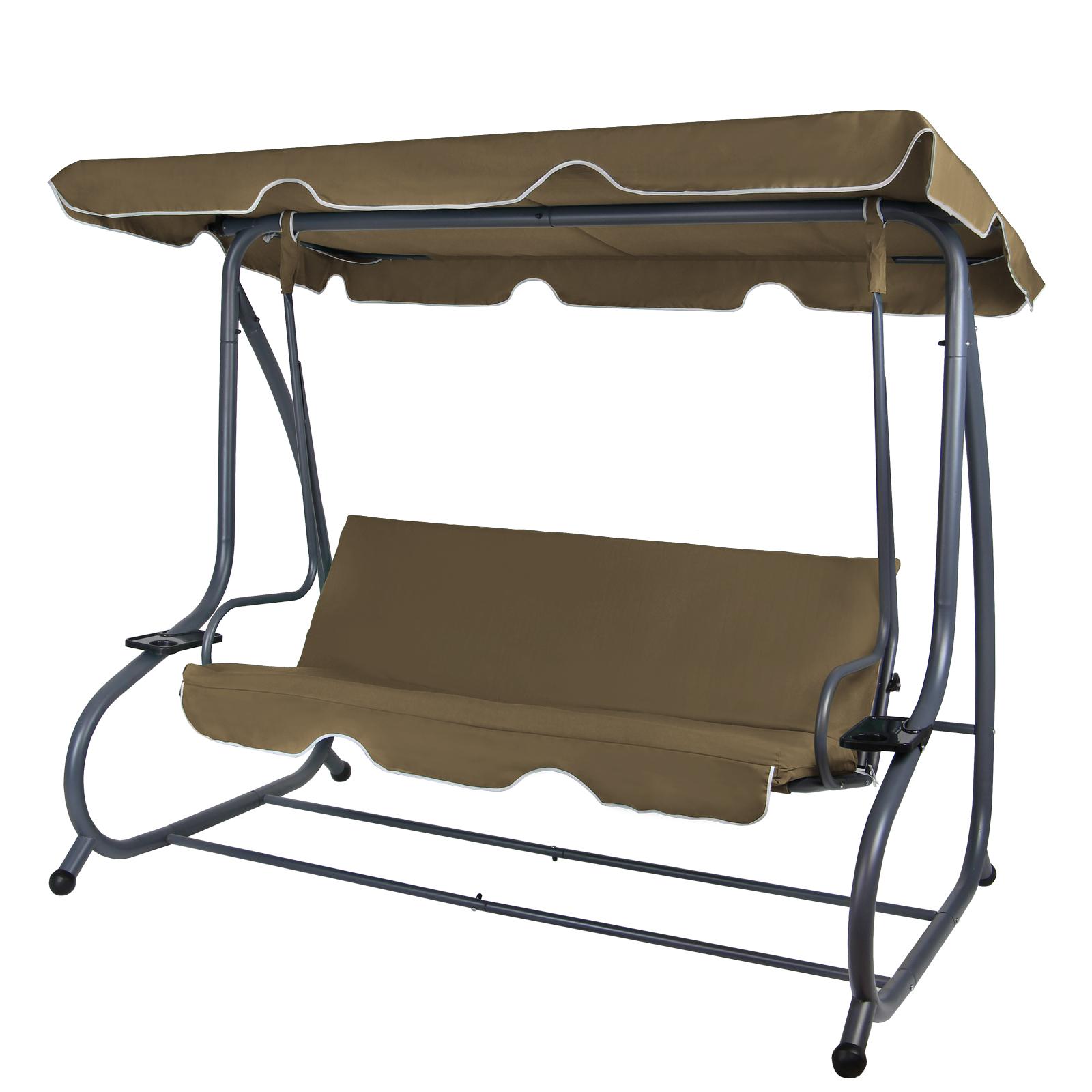 Hollywoodschaukel  4-Sitzer Hollywoodschaukel mit Bettfunktion und/oder Schutzhülle von ...