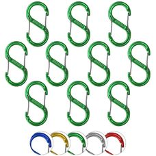 Material carabiner S in various colors - 10 pieces
