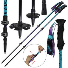 Trekking poles trail running poles Telescopic poles made of carbon adjustable 62 - 135 cm