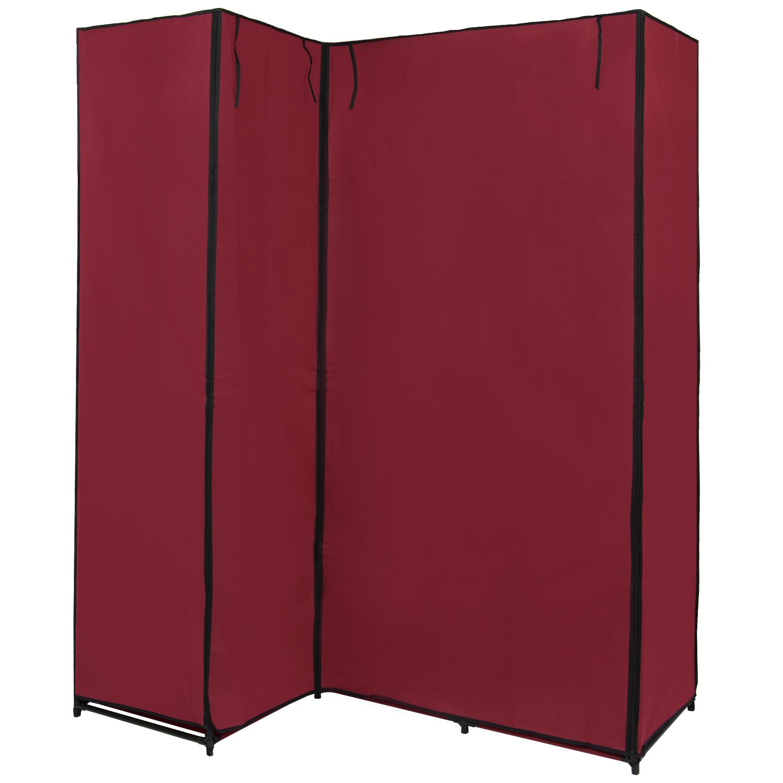 eck kleiderschrank stoffschrank faltschrank koana 169 x 130 x 45 cm steckregal ebay. Black Bedroom Furniture Sets. Home Design Ideas
