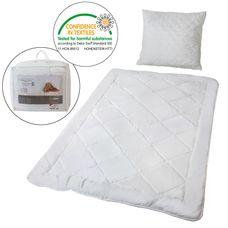Mikrofaser Bettenset Bettdecke 135 x 200 cm und Kissen 80 x 80 cm