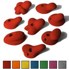 ALPIDEX 8 XL Klettergriffe im Set verschieden geformte Henkelgriffe in vielen Farben