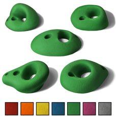 ALPIDEX 5 L/XL Klettergriffe im Set verschieden geformte Lochhenkel in vielen Farben