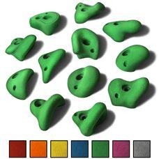 ALPIDEX 12 L Klettergriffe im Set verschieden geformte Henkelgriffe für Kinder in vielen Farben